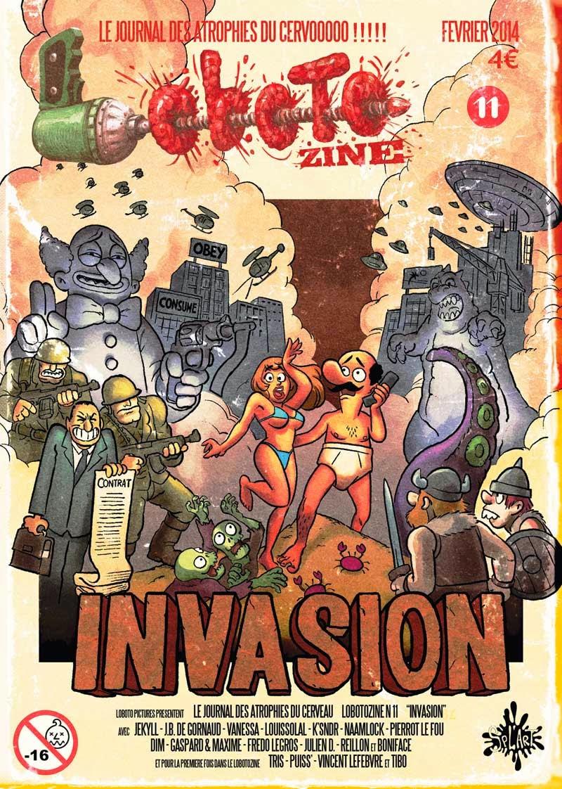 """Loboto 'zine n°11 """"Invasion"""" à 4€"""