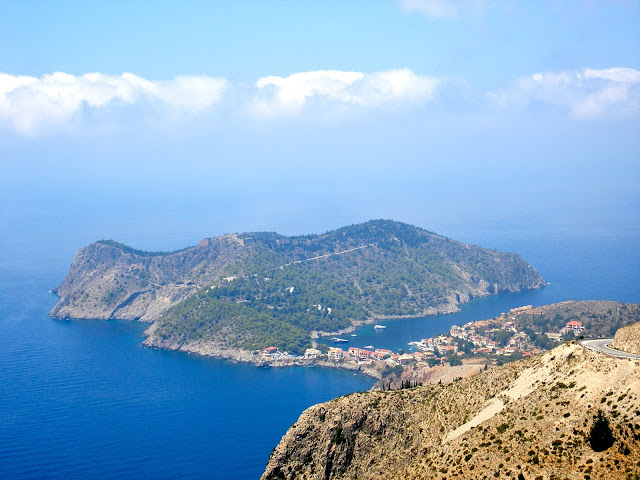 Peninsula land form on Kefalonia, Greece