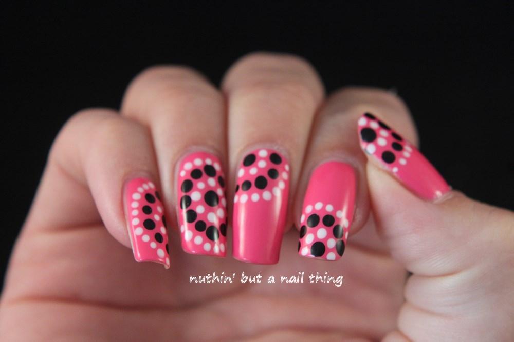 Models Own Gumballs - Polka dot nail art