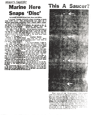 Marine Here Snaps 'Disc' - Miami Daily News 7-30-1952