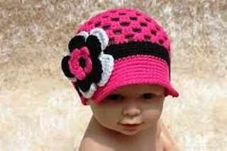 Foto Gambar Topi Rajut Anak Bayi