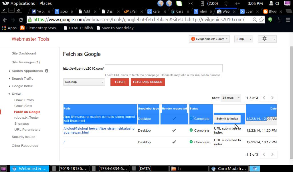 Proses Fetching Artikel Oleh GoogleBot