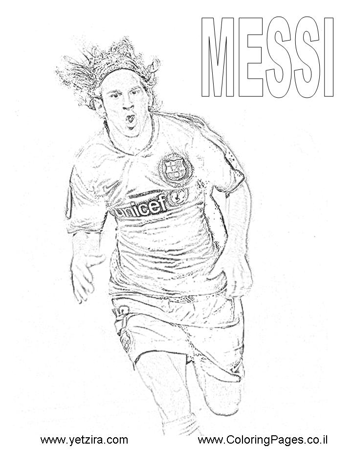 LAMINAS PARA COLOREAR - COLORING PAGES: Lionel Messi para dibujar y ...