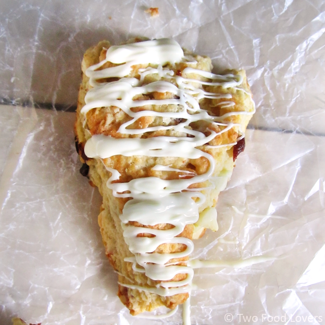 Cherry White Chocolate Almond Scones