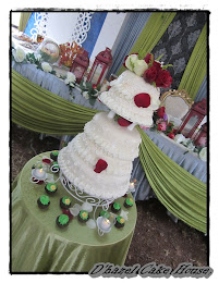 5 tier wedding stacked cake