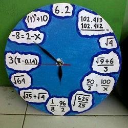 Gambar Jam Unik Matematika
