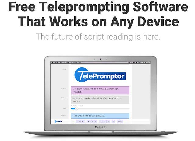 TelePromptor : transformer votre PC ou tablette en téléprompteur