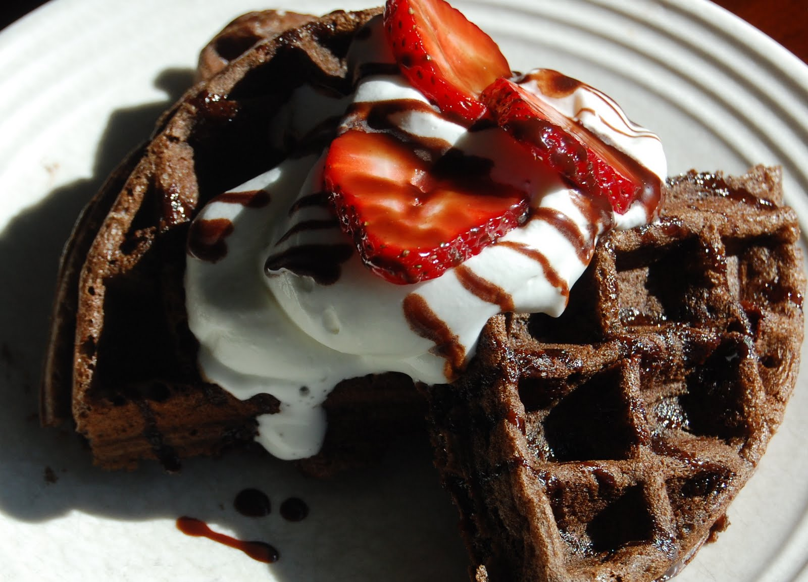 Emily Can Cook: Chocolate Chip Cake Waffles {Dessert}