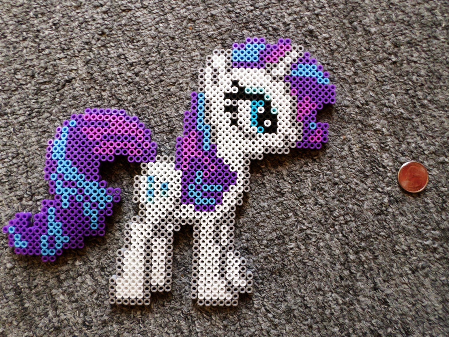 Long Black Fingers My Little Pony Perler Beads