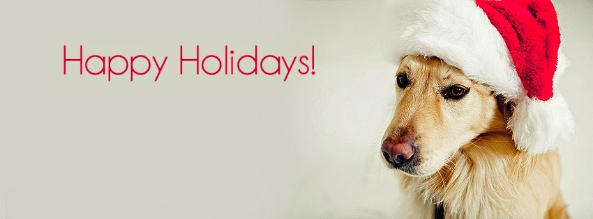 Dog merry Christmas facebook covers