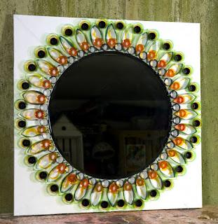 Mis puntadas preferidas espejos decorados con distintos for Marcos decorados para espejos