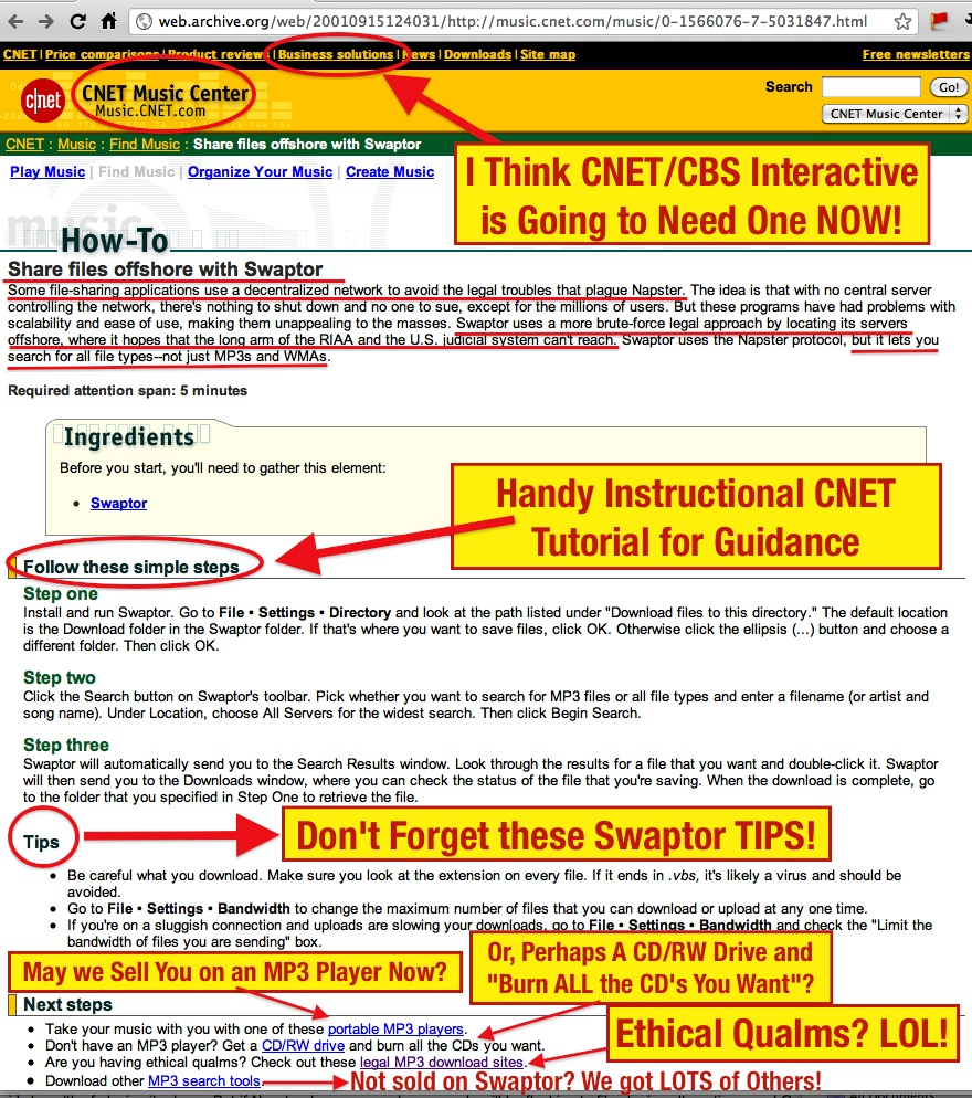 How cnetcbs interactive ignited and fueled the phenomenon of below is the link to the original cnet swaptor how to guide on cnet baditri Gallery