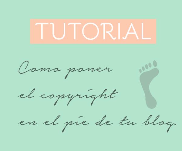 Copyright pie blog escribir