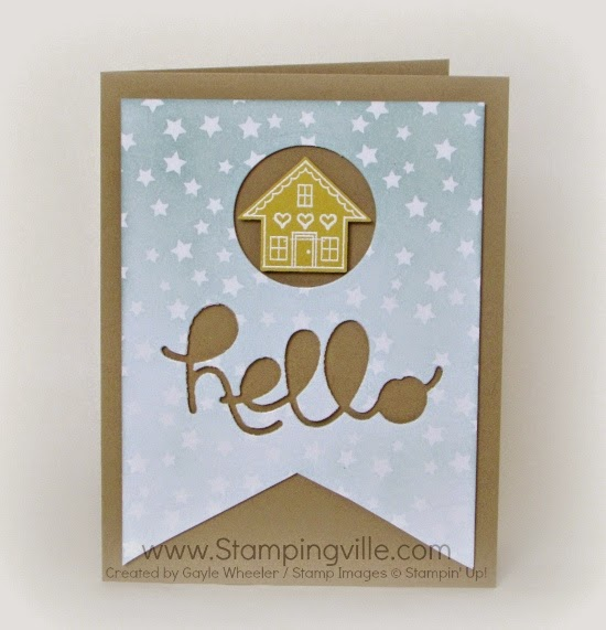 Hello You Brighten My Day - cute card using punches and dies. #cardmaking #papercrafts #Stampinup