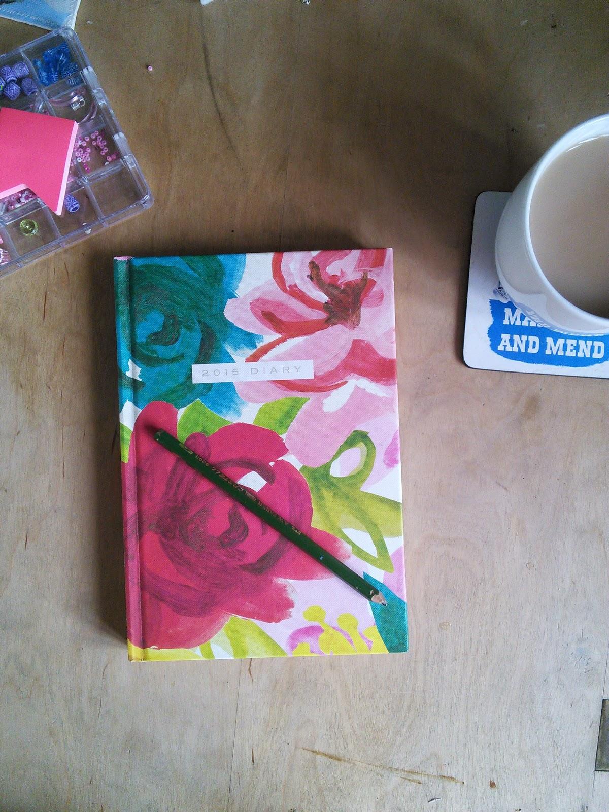 book, tea