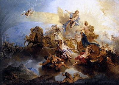 'Faetón conduciendo el Carro del Sol' Louvre, obra de Nicolas Bertin (París, 1667 - 1736)