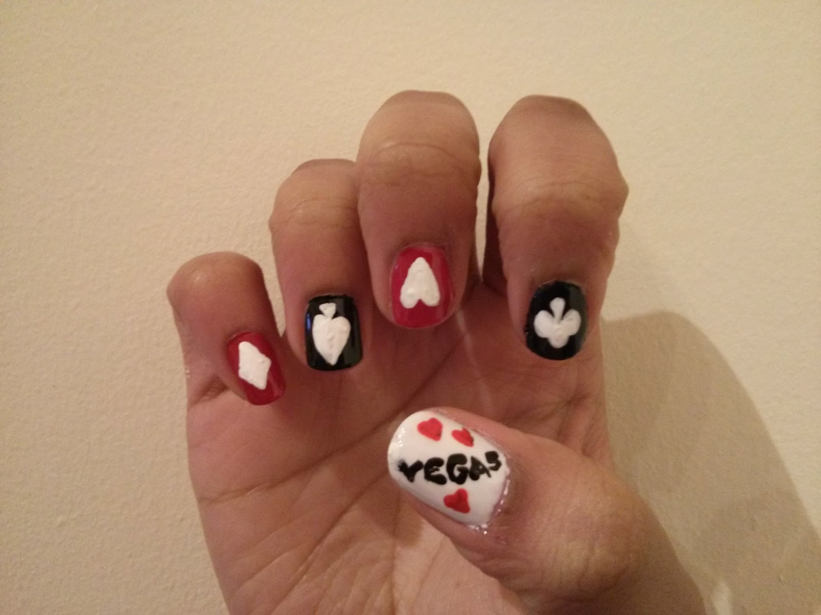 Royal Flush Ready For Vegas Nail Art By Lena