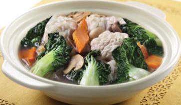 Recipes Sapo Tofu-Chicken with Mushrooms