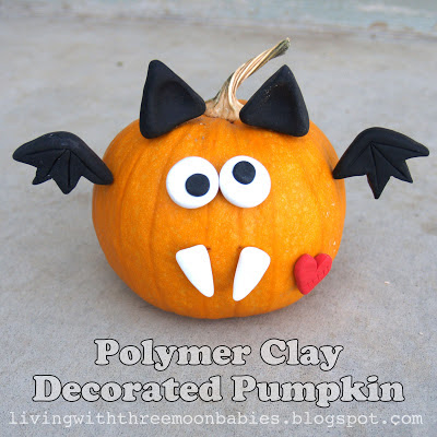 Polymer Clay Decorated Pumpkin