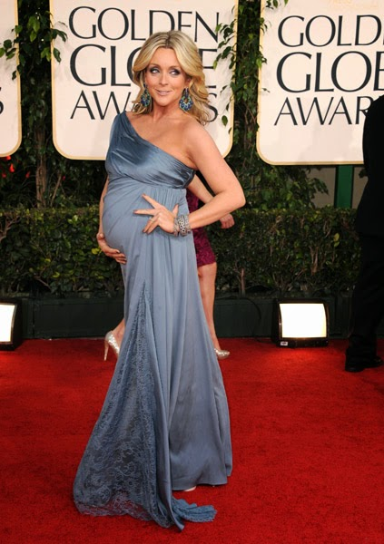 Pregnant Jane Krakowski Arrives At The 68th Annualgolden Globe Awards