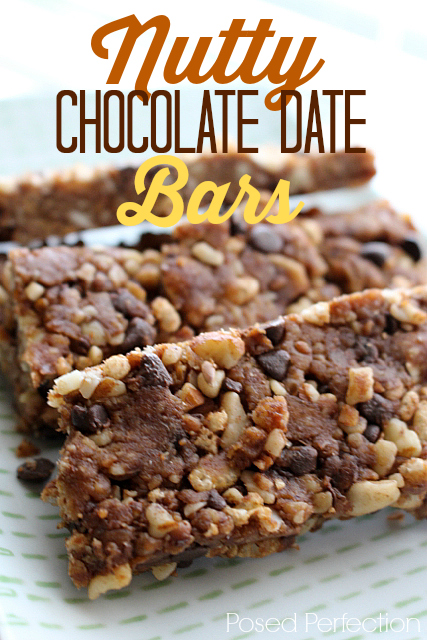 Nutty Chocolate Date Bars