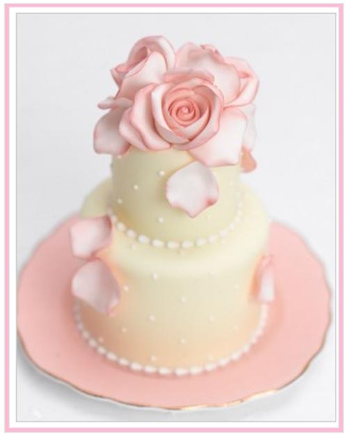 rose cupcake on vintage plate