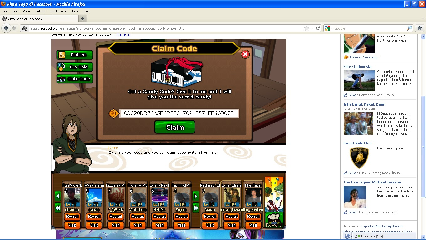 PERMANENT] Update New! Cara Claim Code kinjutsu Black Friday Punch