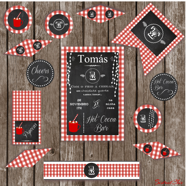Hot Cocoa Bar Personalized Party Printable by BistrotChic