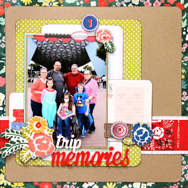 Epcot_Crate Paper_Family_Disney World_Scrapbook