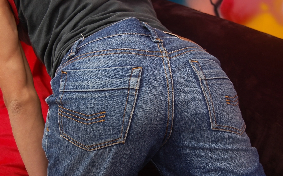 Gay tight jeans butt