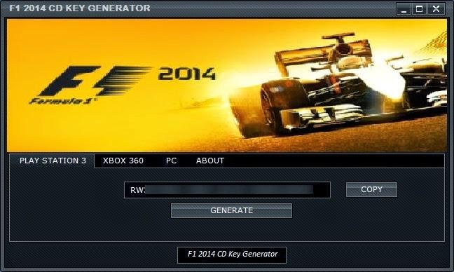 F1 2014 CD Key Generator