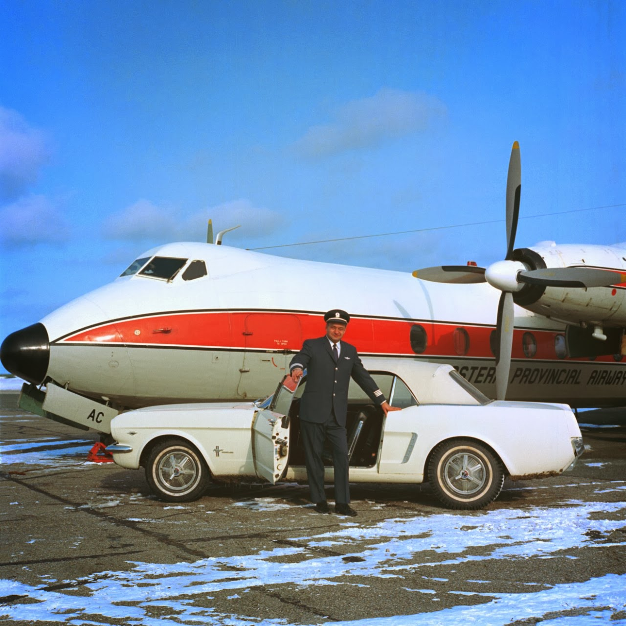 Captain stanley tucker of st johns newfoundland with 1965 ford mustang serial number 1 image courtesy of ford motor company