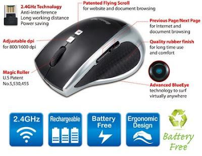 Genius DX-ECO Mouse Tanpa Batere & BlueEye Engine bisa Digunakan Di Berbagai Permukaan