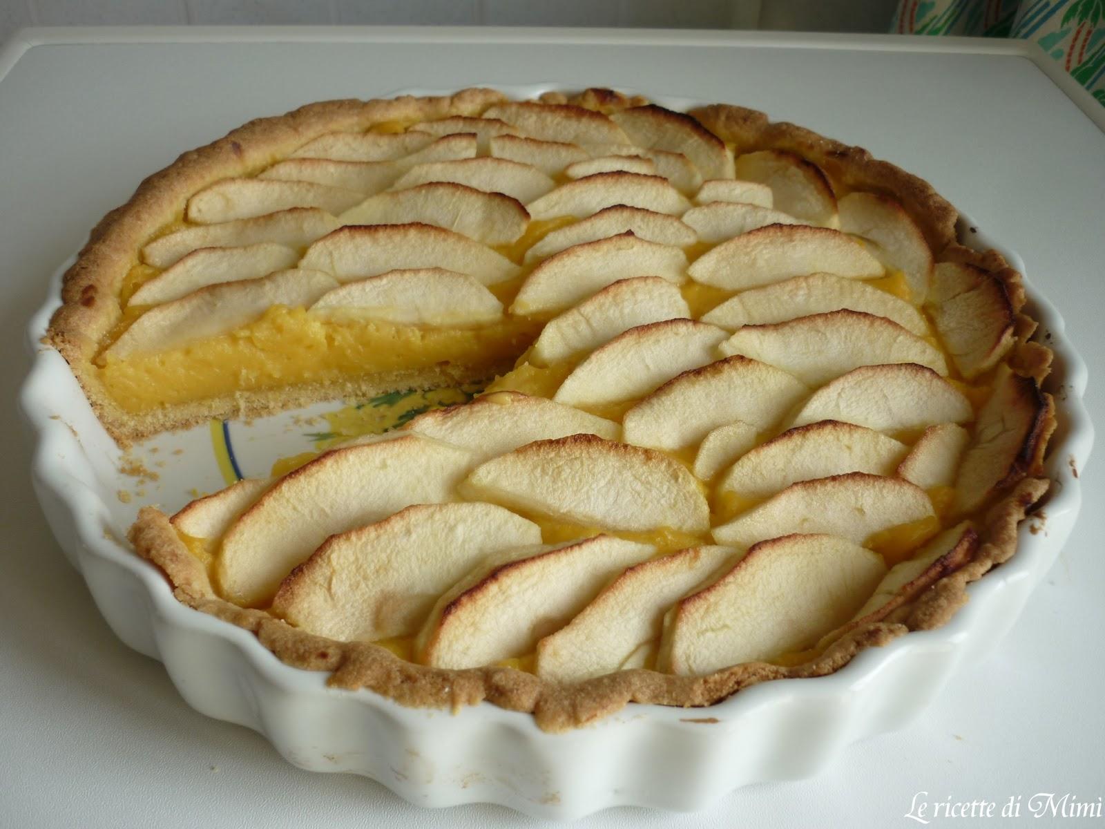 Le ricette di mim crostata di mele con crema pasticcera for Crostata di mele