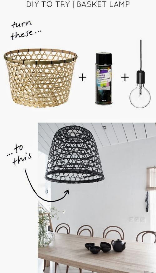 la petite fabrique de r ves diy un panier une lampe. Black Bedroom Furniture Sets. Home Design Ideas