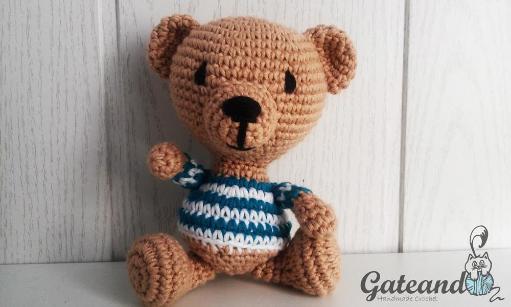 Osito Amigurumi Tutorial Canal Crochet : Patron osito Picasso amigurumi