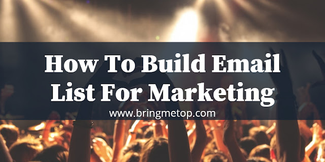 How To Build Email List