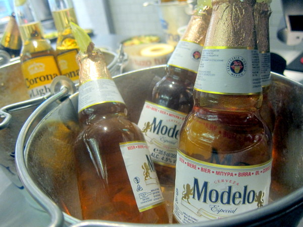 Modelo beer at Tuzo Mexican Kitchen Dawson Street Dublin
