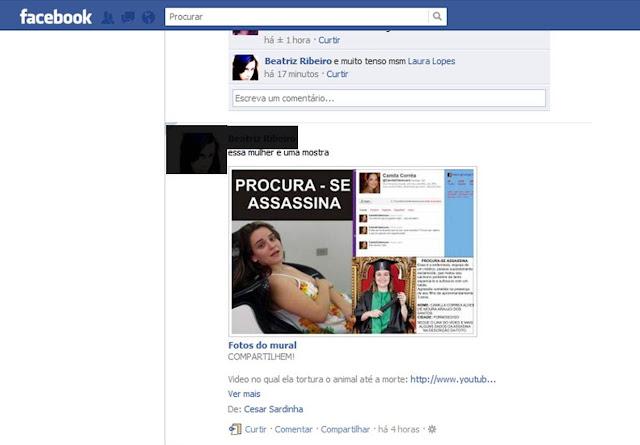 Perfil de usuários no Facebook revoltados com a agressão do cão em Formosa