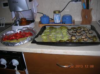 misto di verdure gratinate al forno -  cus cus  di verdure e riso alla panna