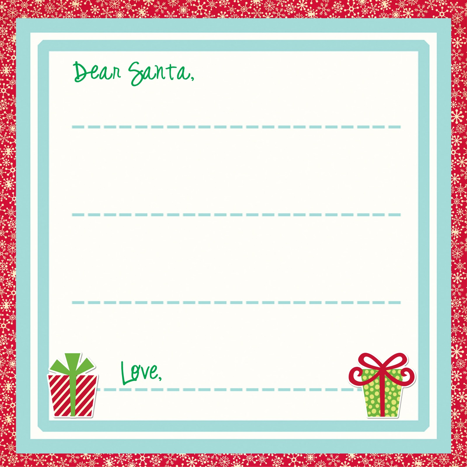 TOUCHING HEARTS LETTERS TO SANTA CLAUS Templates Free Printable - Free printable letter from santa template