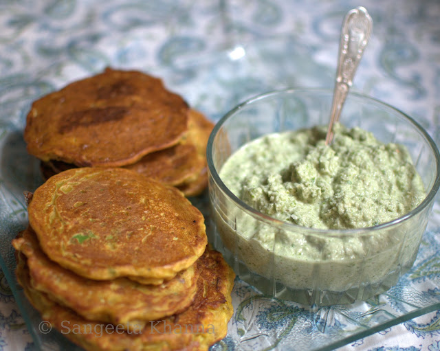 Buckwheat and chickpea flour savoury pancakes for breakfast...