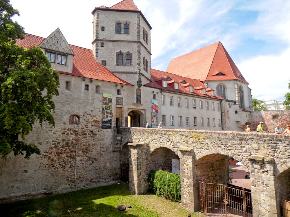 Entrance to the Moritzburg, Halle