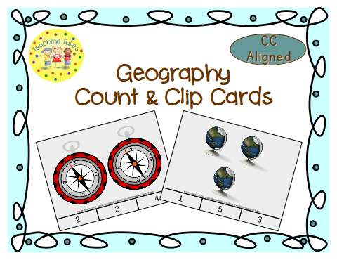 http://www.teacherspayteachers.com/Product/Geography-Count-Clip-Cards-Common-Core-Aligned-903173