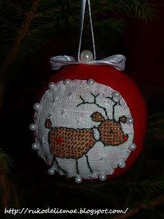 handmade Christmas toys, новогодние игрушки из фетра, игрушки на ёлку своими руками, новогодние шары