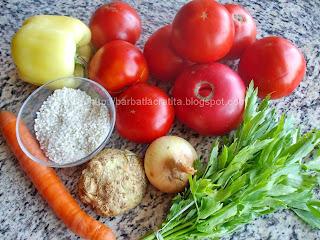 Ciorba de rosii cu orez ingrediente reteta