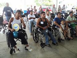 Pacientes con su nueva silla