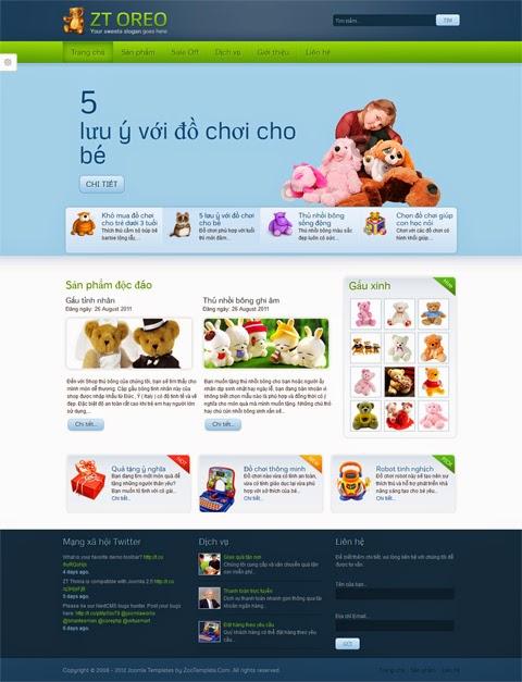 thiết kế website bán hàng cho bé chuyên nghiệp