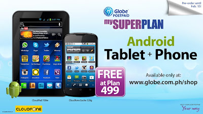Globe Telecom: mySUPERPLAN Android Tablet + Phone Free At Plan 499