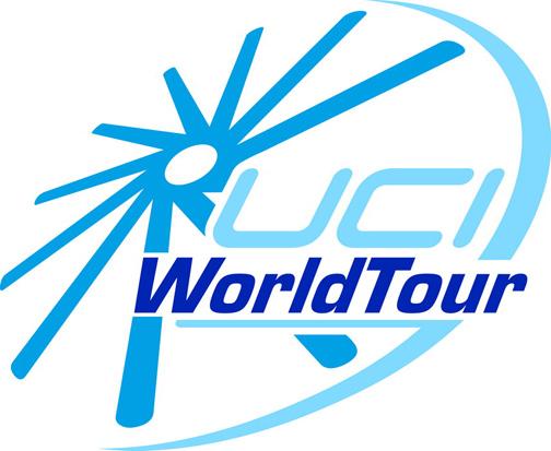 Il logo del World Tour, il maggior circuito mondiale di corse professionistiche di ciclismo su strada - per concessione del sito web 3.bp.blogspot.com © UCI Unione Ciclistica Internazionale